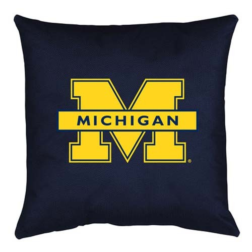 Michigan Wolverines Locker Room Toss Pillow - 18 X 18