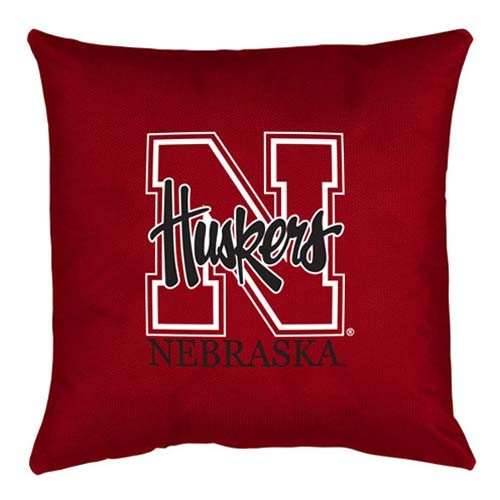Nebraska Cornhuskers Locker Room Toss Pillow - 18 X 18