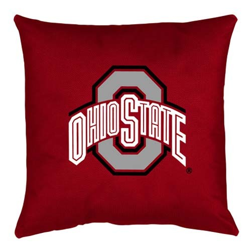 Ohio State Buckeyes Locker Room Toss Pillow - 18 X 18