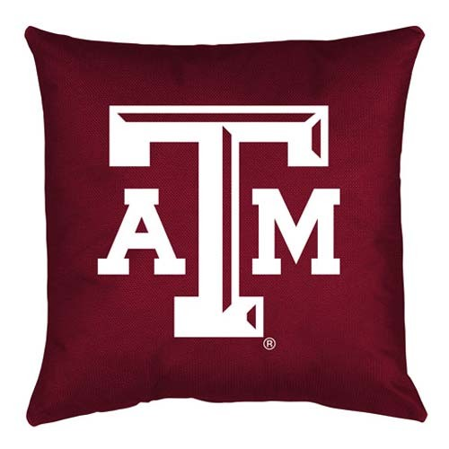 Texas A&M Aggies Locker Room Toss Pillow - 18 X 18