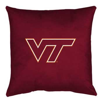 Virginia Tech Hokies Locker Room Toss Pillow - 18 X 18