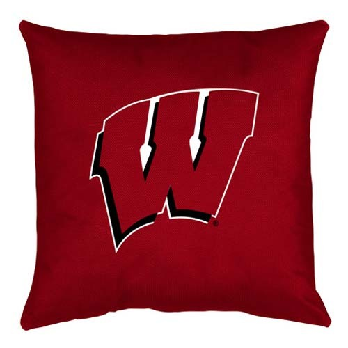 Wisconsin Badgers Locker Room Toss Pillow - 18 X 18