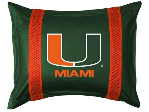 Miami Hurricanes Locker Room Pillow Sham