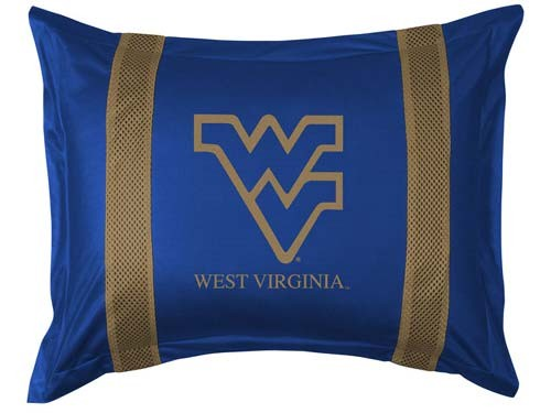 West Virginia Mountaineers Locker Room Pillow Sham