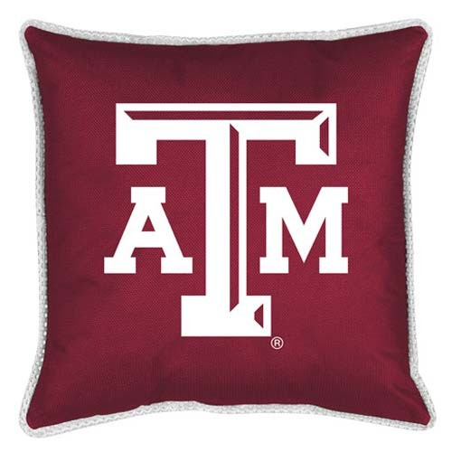 "Texas A&M Aggies Toss Pillow - 18"" X 18"" Sideline Toss Pillow"