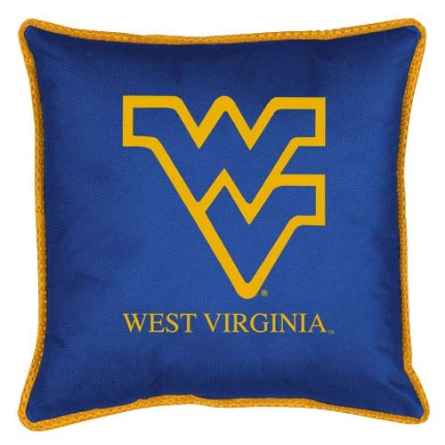 "West Virginia Mountaineers Toss Pillow - 18"" X 18"" Sideline Toss Pillow"