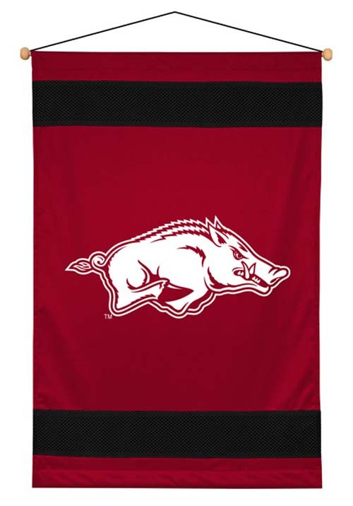 Arkansas Razorbacks Sideline Wall Hanging - 28 X 45