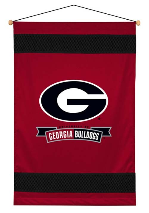 Georgia Bulldogs Sideline Wall Hanging - 28 X 45