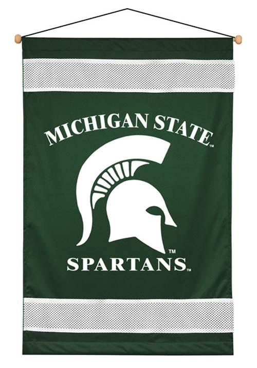 Michigan State Spartans Sideline Wall Hanging - 28 X 45