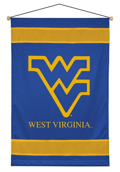 West Virginia Mountaineers Sideline Wall Hanging - 28 X 45