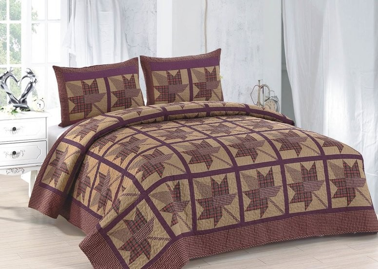 Maple Ridge Quilt - King Size| American Hometex Quilts | King Size ... : maple quilt - Adamdwight.com