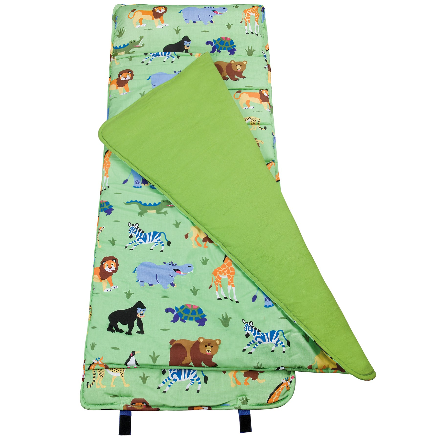Wild Animals Olive Kids Bedding Nap Mat Kids Bedding