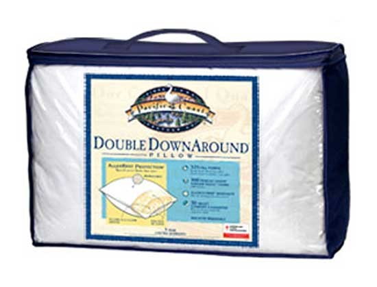 pacific coast double down around feather pillow twin size