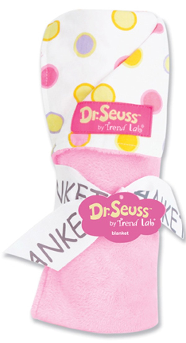 Dr Seuss Oh The Places You'll Go (Pink) Receiving Blanket - Dot Pink