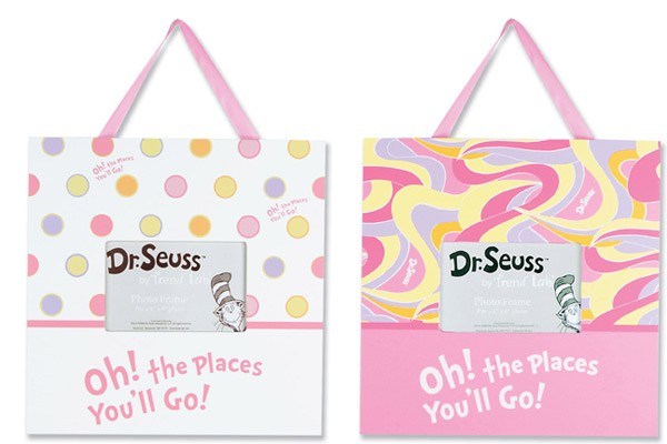 Dr Seuss Oh The Places You'll Go (Pink) Frame Set