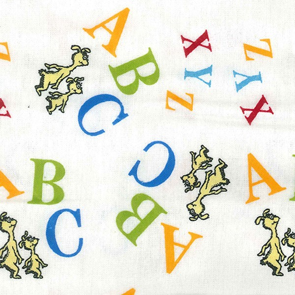 Dr Seuss Abc Flannel Crib Sheet
