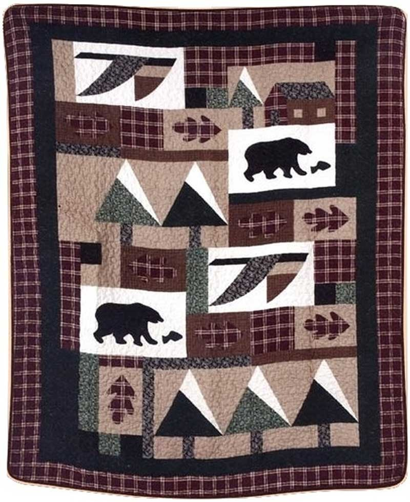 Winter Cabin Throw Size Quilt