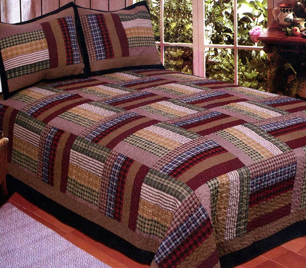 Six Bars Quilt - Full/Queen Size