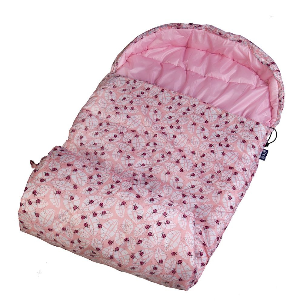 Lady Bug Pink Stay Warm Sleeping Bag by Olive Kids