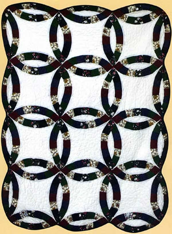 Royal Wedding Ring Throw Size Quilt