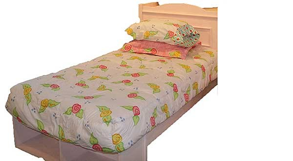 Amanda Bunk Bed Hugger Comforter (White) by California Kids - Clearance