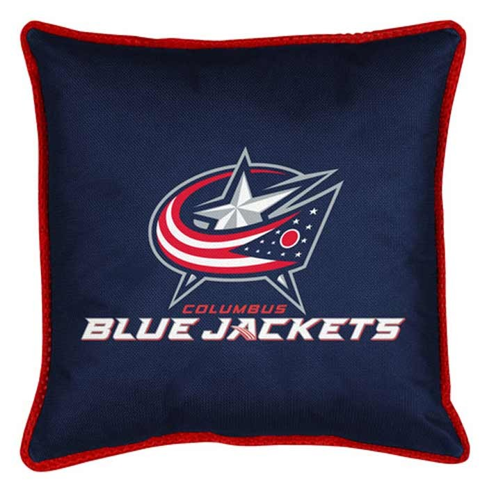 "Columbus Blue Jackets Sideline Pillow - 17"" X 17"""