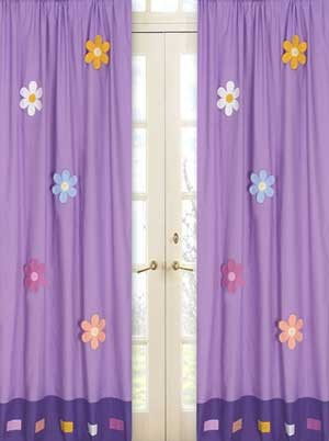 Danielles Daisies Window Panels