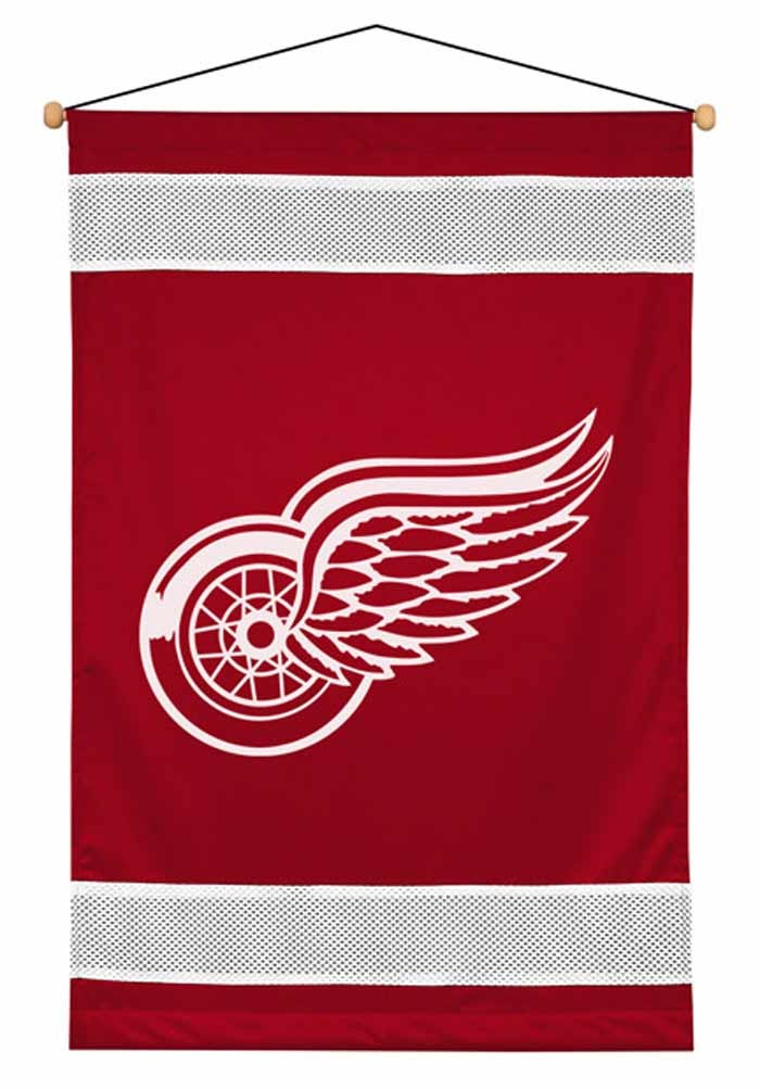 Detroit Red Wings Sideline Wall Hanging - 28 X 45