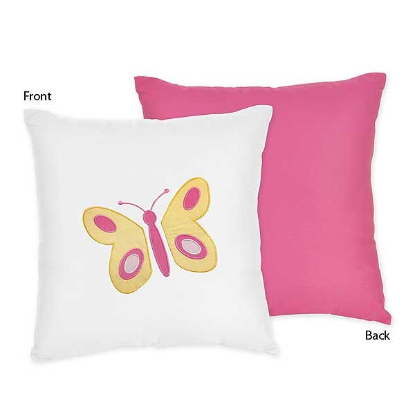 Butterfly Pink & Orange Accent Pillow
