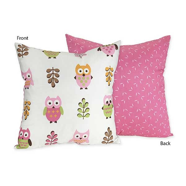 Happy Owl Accent Pillow
