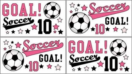 Pink Soccer Wall Decals