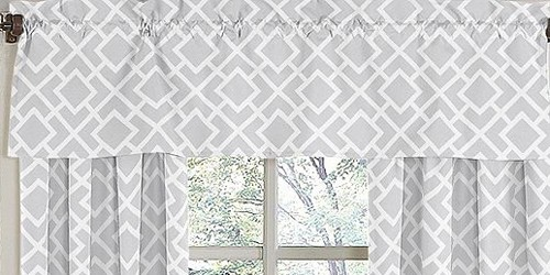Diamond Gray & White Valance