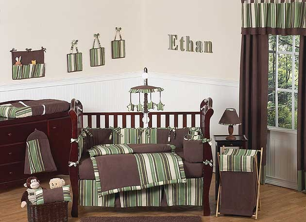 Ethan Crib Set by Sweet Jojo Designs - 9 piece