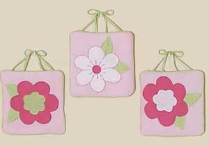 Flower Pink And Green Wall Hanging