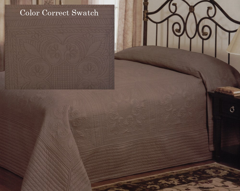 French Tile King Bedspread Taupe