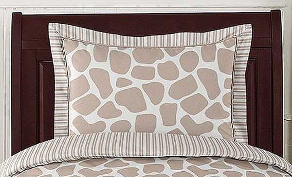 Giraffe Pillow Sham by Sweet Jojo Designs