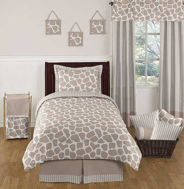 Giraffe Comforter Set - 4 Piece Twin Size by Sweet Jojo Designs