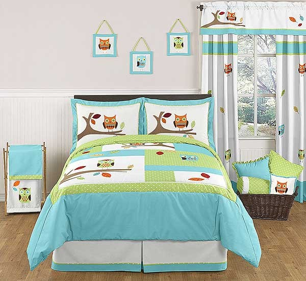 Hooty the Owl Comforter Set - 3 Piece Full/Queen Size By Sweet Jojo Designs