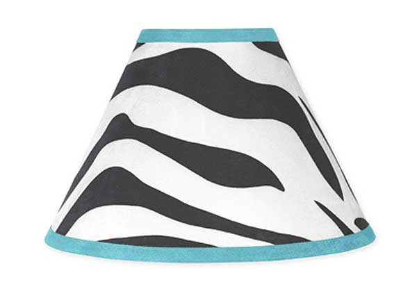 Blue Zebra Lamp Shade