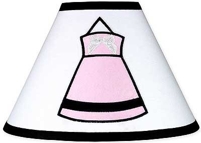 Princess Black, White and Pink Lamp Shade