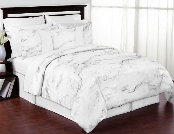marble print comforter set 3 piece king size by sweet jojo designs