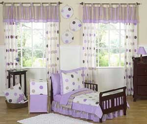Lavender Mod Dots Toddler Bedding Set By Sweet Jojo Designs