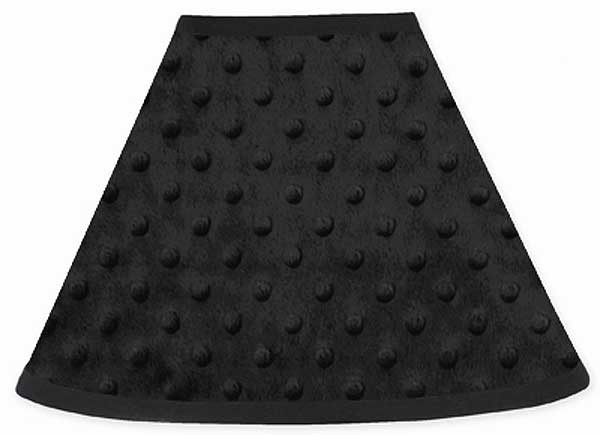 Minky Dot Black Lamp Shade