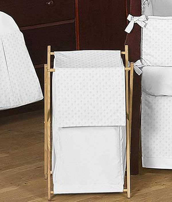 Minky Dot White Hamper