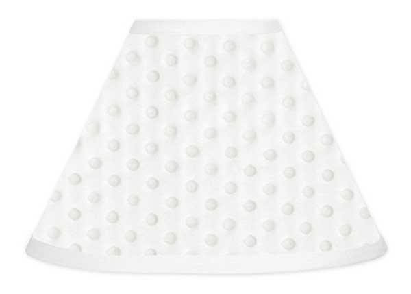 Minky Dot White Lamp Shade