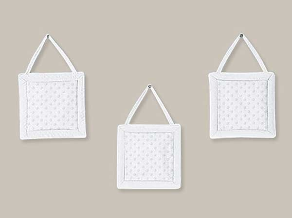 Minky Dot White Wall Hanging