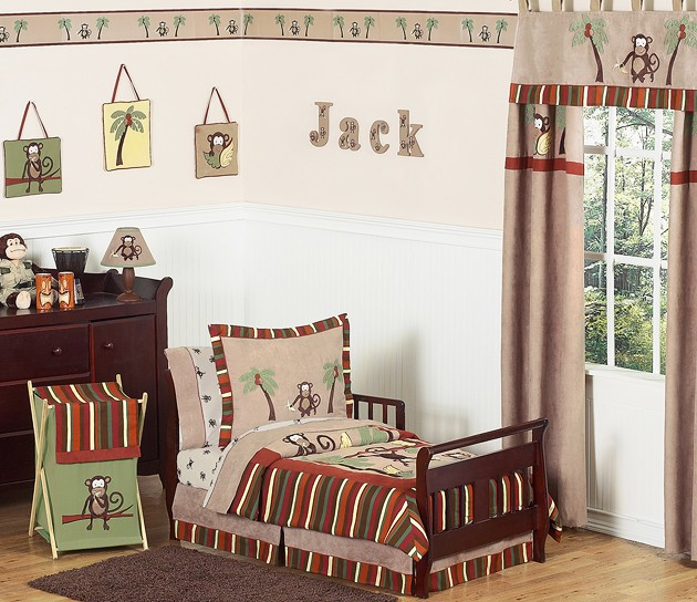 Monkey Toddler Bedding Set By Sweet Jojo Designs