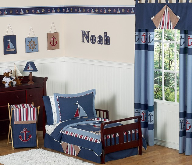 Nautical Nights Toddler Bedding Set By Sweet Jojo Designs