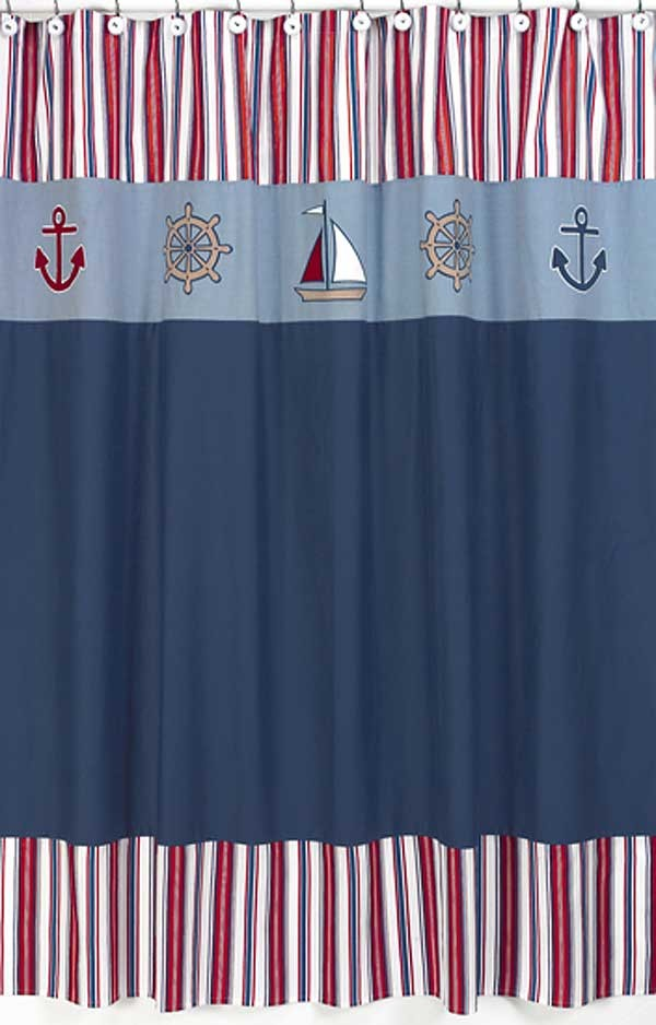 Nautical Nights Shower Curtain