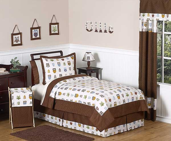 Owl Bedding Set - 4 Piece Twin Size By Sweet Jojo Designs